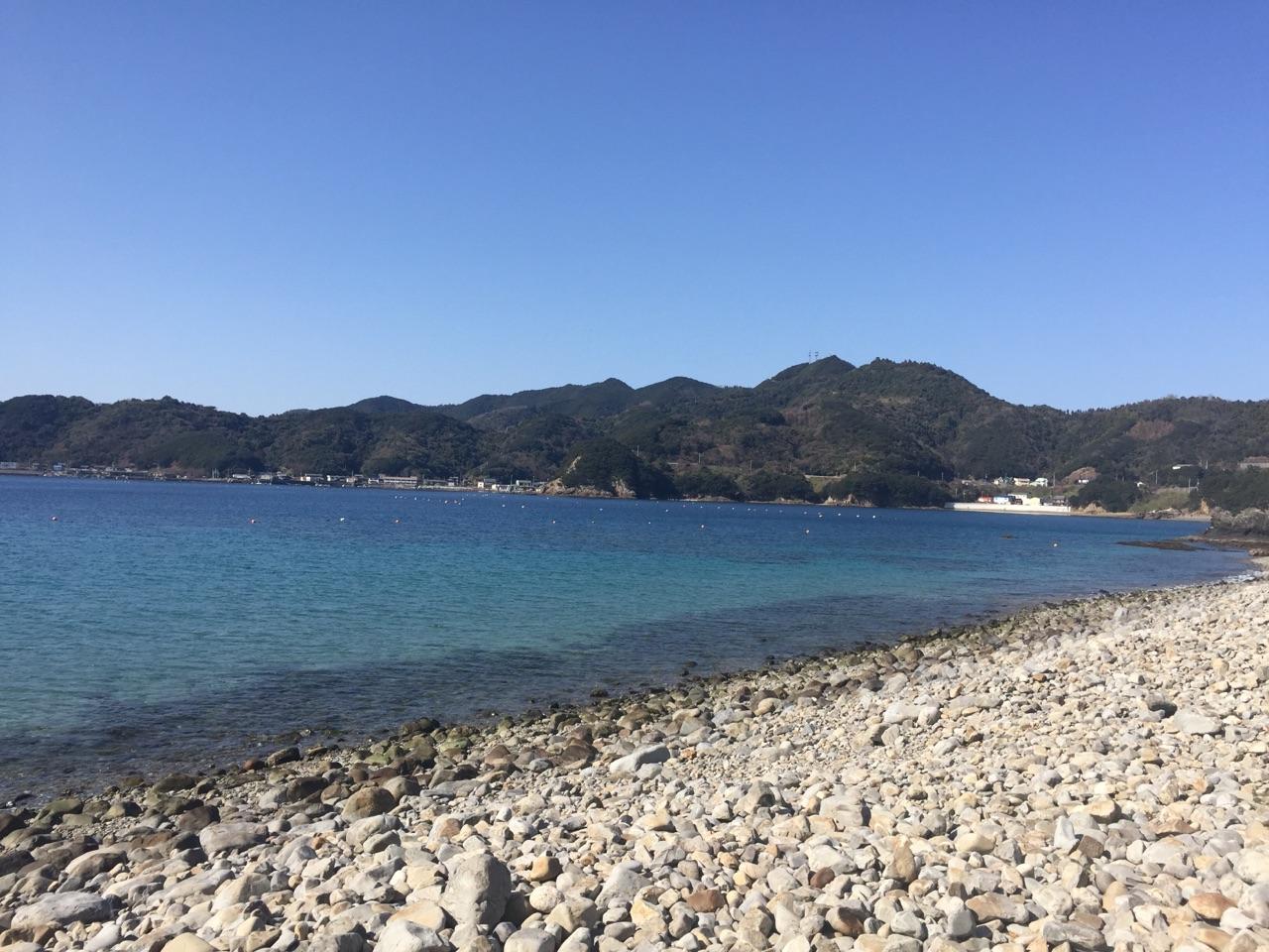 須ノ川から見る由良半島