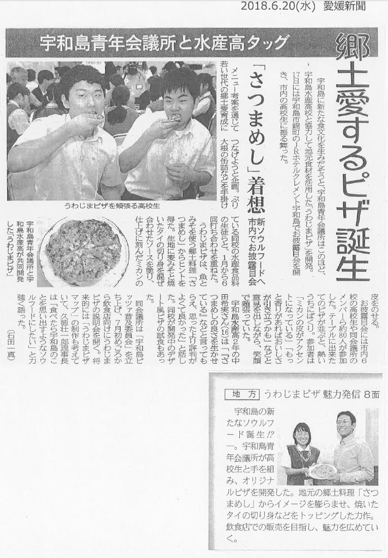 うわじまピザ 愛媛新聞